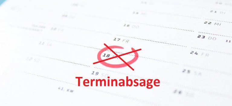 Alle Veranstaltungen bis einschl. 18.04.2020 abgesagt