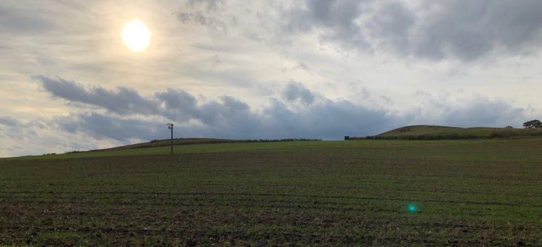 Sonnenuntergang Galgenberg und Flöteberg